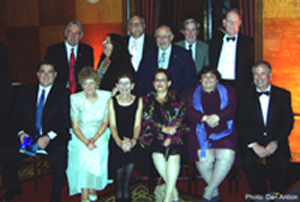 Mark Carter (first row at left) poses with other AIIM Fellows present at AIIM Awards Banquet